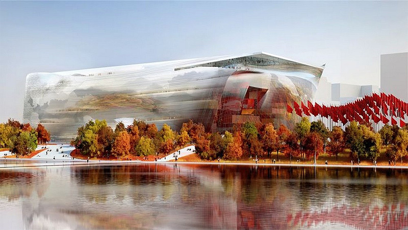 Winning design for the National Art Museum of China by Ateliers Jean Nouvel and Beijing Institute Architecture Design (BIAD)