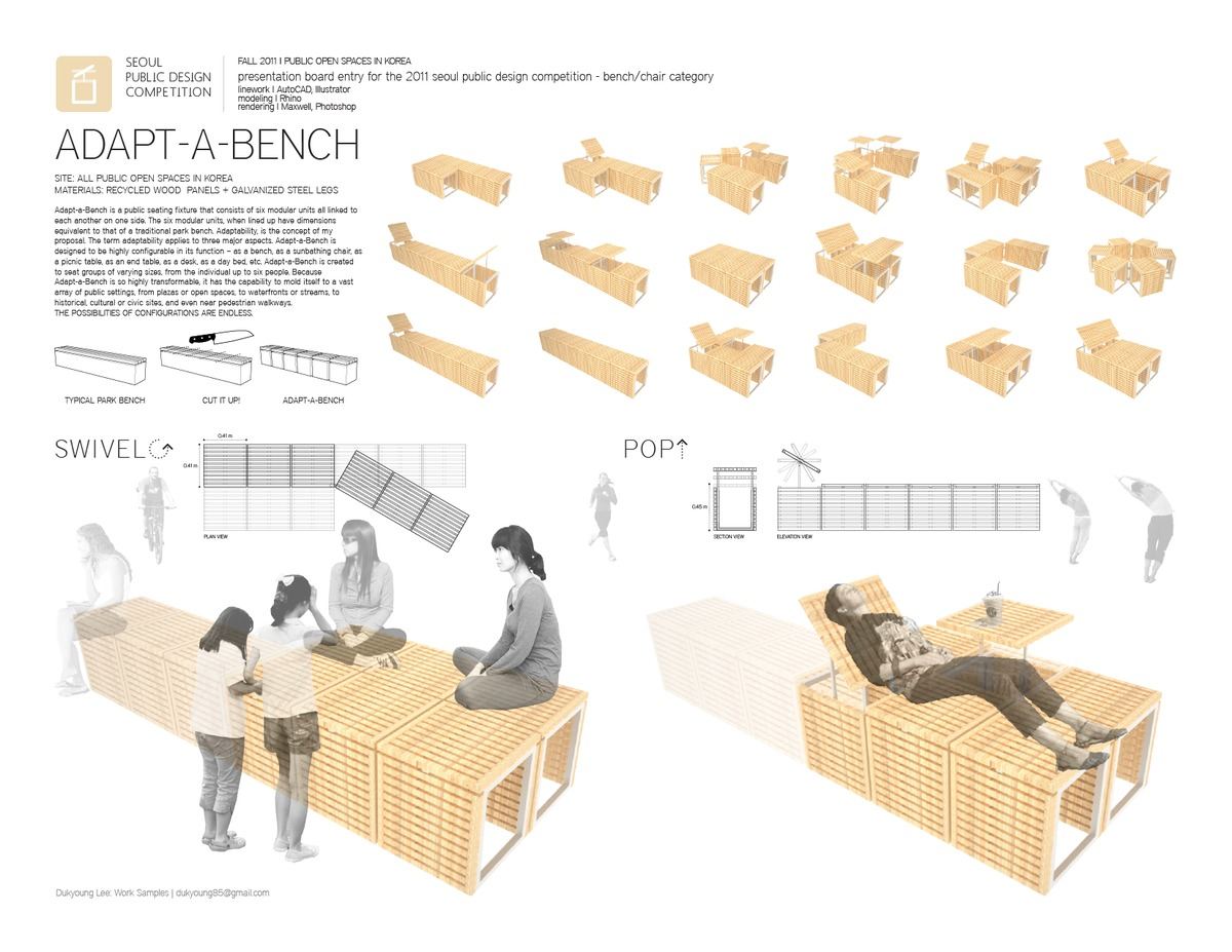 Adapt A Bench Dukyoung Lee Archinect