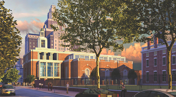 A rendering of the Museum of the American Revolution in Philadelphia as envisioned by Robert A. M. Stern. via NYT