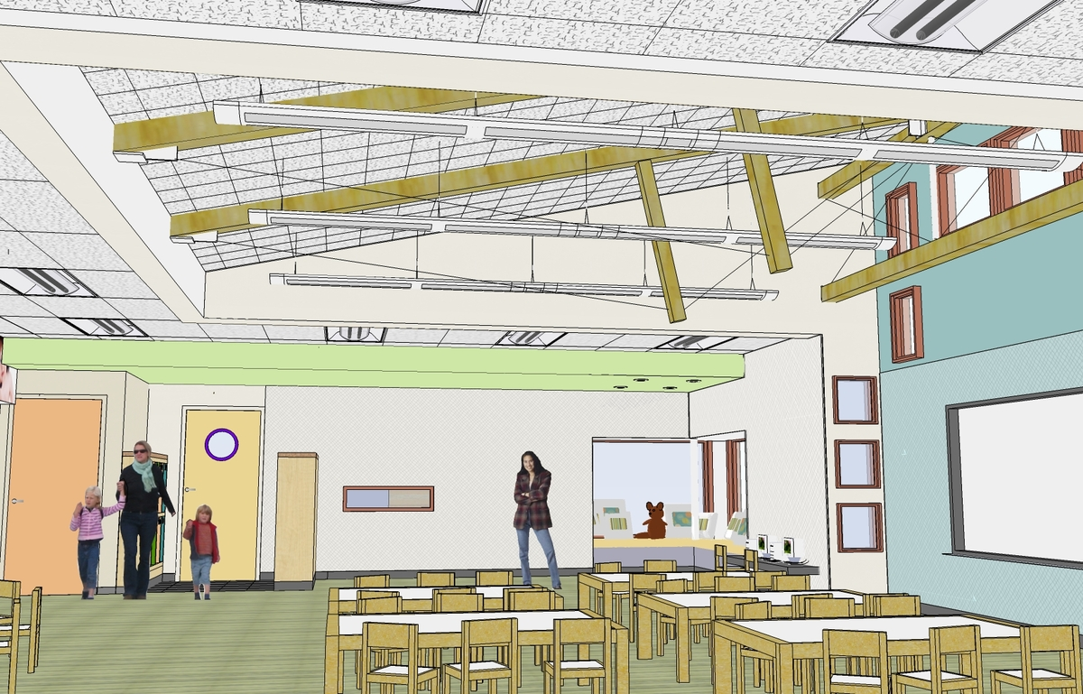 Sketchup rendering of Interior