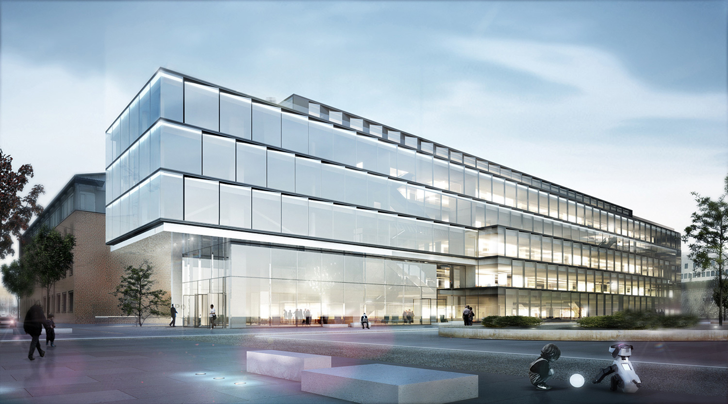 Henn to design glazed software factory in karlsruhe germany for Factory exterior design