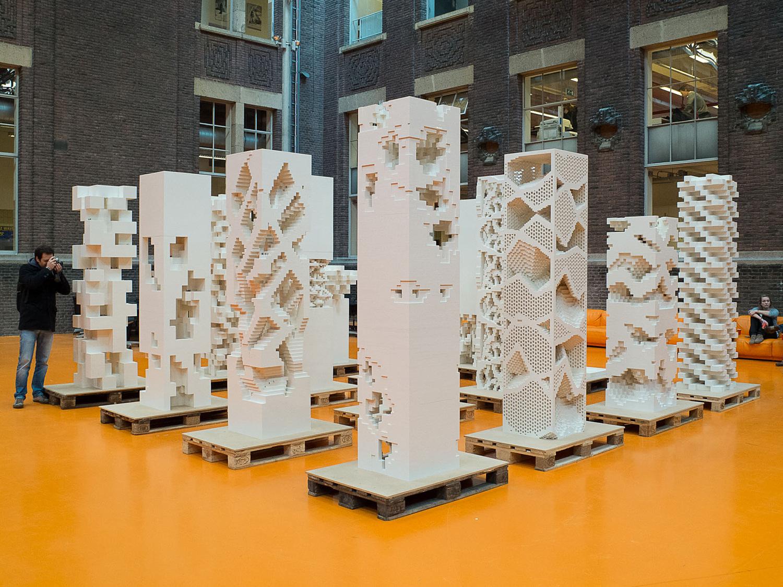 D Exhibition Model : Mvrdv builds quot porous city exhibition with legos in cannes