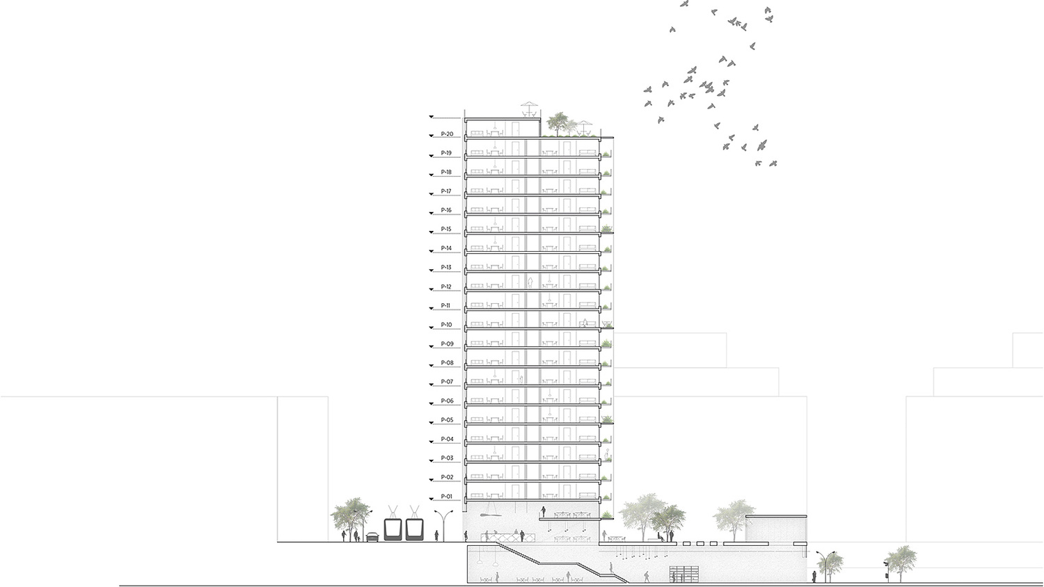 Möller Design c f møller to design geysir residential high rise in stockholm