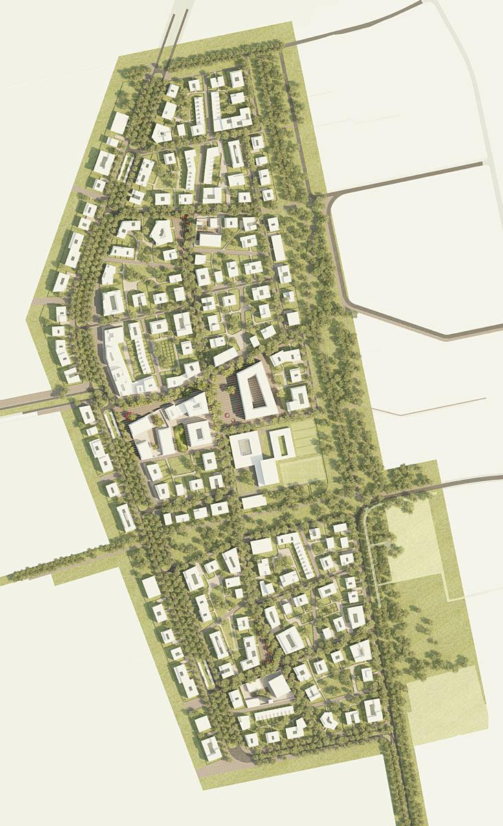 west 8 wins freiham nord urban landscape planning competition in munich. Black Bedroom Furniture Sets. Home Design Ideas