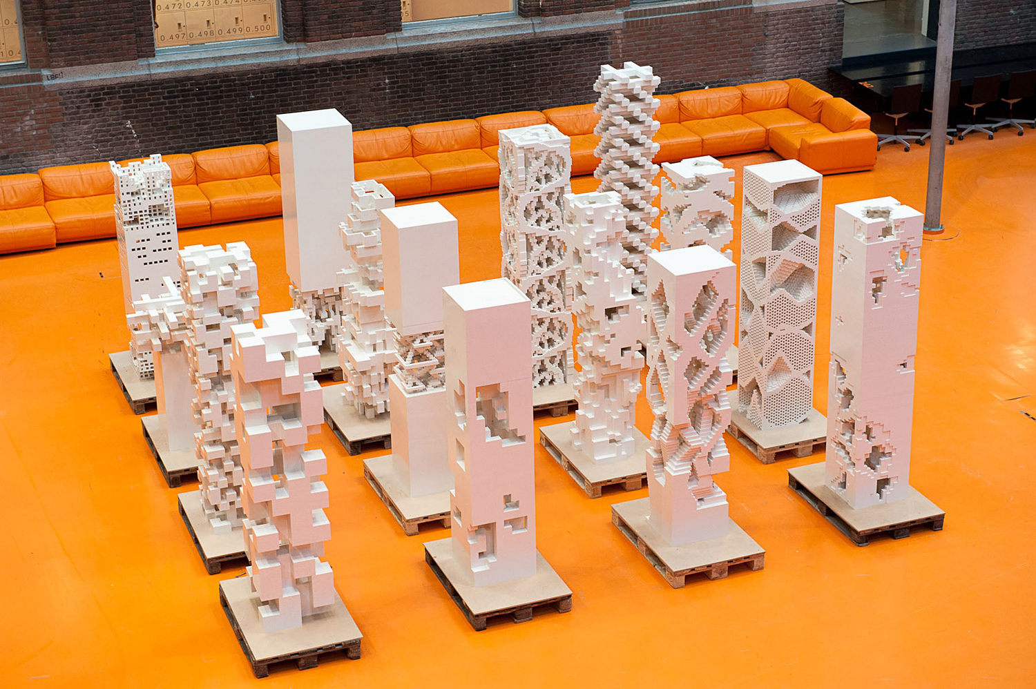 Mvrdv builds porous city exhibition with legos in cannes for Architecture lego