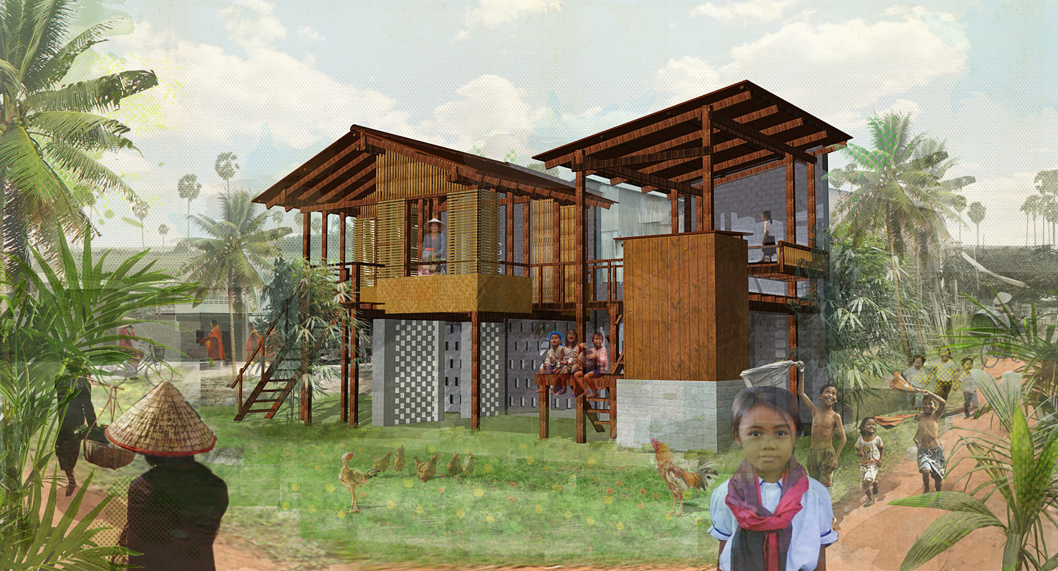 Winning designs of cambodian sustainable housing for Award winning courtyard designs