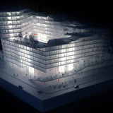 Model of BIG's proposal for Axel Springer HQ in Berlin. Image: BIG