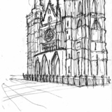 Quick sketch of Leóns famous Cathedral via Alexander Morley