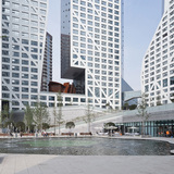 Architecture Merit Award Winner: Sliced Porosity Block - CapitaLand Raffles City in Chengdu, China by Steven Holl Architects (Image Credit: © Iwan Baan)