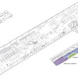 Axonometric view of the ground floor (Image: AAKAA & MARS Architectes)