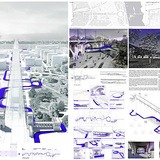 Honorable Mention: URBANOGRAM - Revitalization of the Poniatowski viaduct and bridge; Autor: Monika Ryszka; University: Cracow University of Technology; Country: Poland