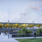 Exterior rendering of the proposed terminal (Image: Grimshaw Architects)