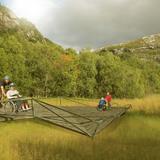 Bridge in vulnerable nature (Image: Eriksen Skajaa Architects)