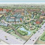 Master Plan Rendering for Redeveloping Dublin, Ohio