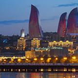 6. Flame Towers (Baku, Azerbaijan) by HOK. Photo © Birgitte Riber Hald.