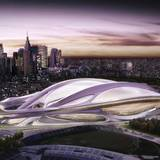 stadium design by Zaha Hadid was part of Tokyo's winning bid for the 2020 Olympics