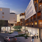 Under Construction Award: One Santa Fe. Design Architect: Michael Maltzan Architecture, Inc. Executive Architect: KTGY Group, Inc. Image courtesy of 2014 L.A. Architectural Awards