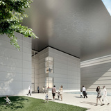 Norton Museum of Art Heyman Plaza, southern view, designed by Foster + Partners. (Image courtesy of Foster + Partners)