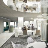Interior rendering, office © HENN