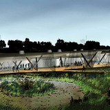 Acknowledgement Prize: Environmental center and bird-watching facility using recycled materials, Chicago, IL by Jeanne Gang, Studio Gang Architects, Chicago, IL: Built on a damaged site once used for steel production, the project is built like a nest, reusing nearby and available materials from...