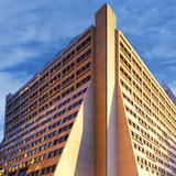 Designed by architecture firm Davis Brody (now Davis Brody Bond) and completed in 1969, 450 West 33rd Street (450W33) is an exemplar of late Brutalist architecture... Image courtesy of REX.