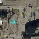 After rigorous analysis for potential sites, Block 127--a block within East Village--was approved as the location of the new Central Library. The Calgary Public Library Board recommended the site and it was approved by the City Council in July 2011. (Image via calgarynewcentrallibrary.ca)