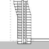 "Section drawing of B05 ""Kuifje"" by NL Architects in Nieuw Crooswijk, Rotterdam. Image: NL Architects"