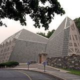The First Presbyterian Church is called The Fish Church for its fish-like shape. Photo by Robert Gregson.