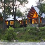 Tellico Cabin in Tellico Plains, TN by Hefferlin & Kronenberg Architects; Photo: Craig Kronenberg/Daniel Oakley