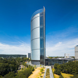 JAHN'S Post Tower in Bonn, Germany wins the CTBUH 10 Year Award. Image by Rainer Viertlboeck.