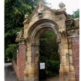 doorway to the Fletcher Moss Gardens in Didsbry photo via DavidTg