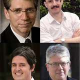 Clockwise from upper-left- Daniel Friedman (University of Hawaii), Jonathan Solomon (School of the Art Institute of Chicago), Peter MacKeith (University of Arkansas), Marc Swackhamer (University of Minnesota)