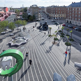 Superkilen, Copenhagen, Denmark by BIG, TOPOTEK1 and Superflex (Photo: Iwan Baan)
