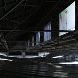 The 5F horizontal lighting shield by architect Hideyuki Nakayama. Photo: Junko Kawauchi. Image courtesy of Eizo Okada.