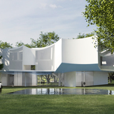 Franklin & Marshall Visual Arts building. Courtesy of Steven Holl Architects.
