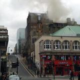 The main fire at #GSA has been extinguished by the fire crew - @STVGlasgow