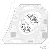 Leeza SOHO, Site PLan. Image courtesy of Zaha Hadid Architects.