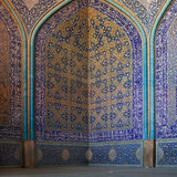 Safavid surfaces of Sheik Lotfallah Mosque photo by Derek Kaplan