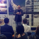 Thom Mayne introduces Cap-Haitien studio critique. Photo: Amelia Taylor-Hochberg.