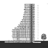 Section of Gerswhin Plot 14. Image courtesy of NL Architects.