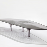 Liquid Glacial Smoke Coffee Table, 2012 by Zaha Hadid and Patrik Schumacher. Photo: Jacapo Spilimbergo.