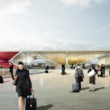 Kutaisi Airport, Departure (Image courtesy of UNStudio; Rendering: moka-studio)