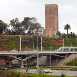 Rabat-Salé Urban Infrastructure Project: Viaduct with the Hassan II Tower in the background. Photo: AKAA / Cemal Emden