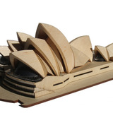 Sydney Opera House Architectural Model Kit by Marcus Bree. Image via Kickstarter