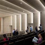 Stiller Family Foundation Auditorium, Norton Museum of Art, designed by Foster + Partners. (Image courtesy of Foster + Partners)