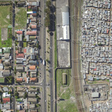 Manenberg / Phola Park, Cape Town, South Africa, from the drone photo series Unequal Scenes by Johnny Miller.