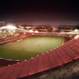 Night view of the main stadium in the XL diamond cell (Image: Henn Architekten)