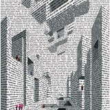 City of Words, lithograph by Acconci, 1999