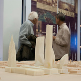 Site Model at AIASIGAL Gallery exhibition. Photo courtesy Daniel Gillen