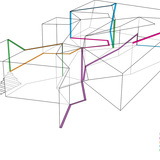 Installation diagram of UNStudios Motion Matters at the MAXXI Museum. Image: UNStudio
